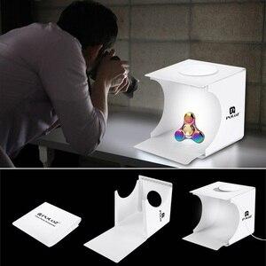 Image 5 - Tragbare Falten Leuchtkasten Fotografie Studio Softbox LED Licht Weichen Box fotografia für iPhone HTC DSLR Kamera Foto Hintergrund