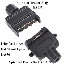 12V Car Accessories 7 Pin Flat Trailer Plug  Socket Caravan Parts  7 way  Plastic truck  adapter Towing Electrics Connector
