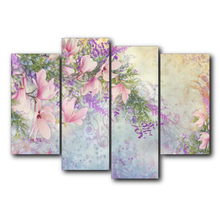 Laeacco Canvas Calligraphy Painting Spring Flower Garden Posters and Prints Wall Art Pictures Living Room Nordic Home Decoration стоимость