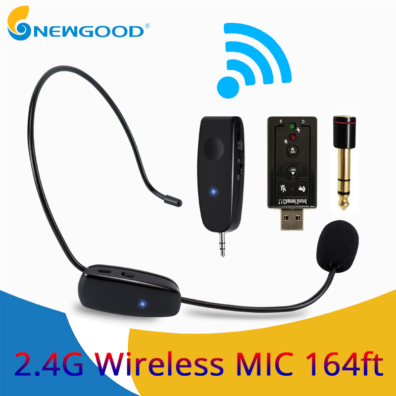 e3900cb5ef1 Microphones 2.4G Wireless Microphone Wireless Headset MIC For Voice  Amplifier Computer Wireless Microphone Professional Teachers