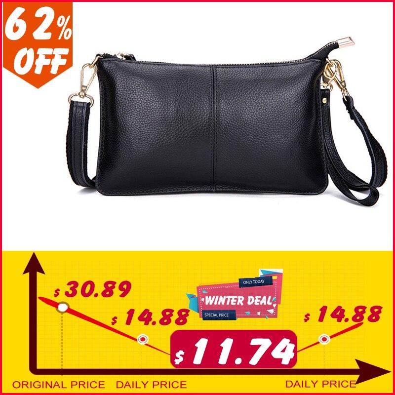 100% echtem Leder Frauen Umhängetasche Berühmte Marke Weibliche Schulter Tasche Umschlag Kupplung Tasche Umhängetasche Handtasche für Frauen 2018