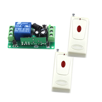 DC12V 1CH RF Wireless Remote Control Switch System 1Receiver 2Transmitter M4 T4 Adusted Learn Code Gateway