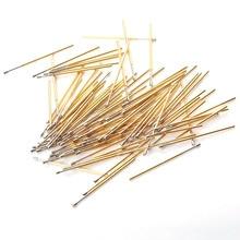цена на 100 PCS 1.3mm Phosphorus Copper Spring Test Probe PL75-Q2 Tip Nickel Plating PCB Probe Needle Diameter 1.02mm  Instrument