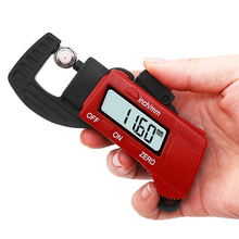 Cheaper 1pcs 0-12mm Carbon Fiber Composite Digital Display Thickness Gauge Caliper Electronic Thickness Meter Width Measuring Tools Sale