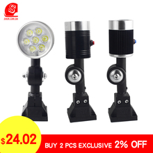 3W 7W Led Small CNC Machine Light garage Working Lamps with four-fixed base 24V 220V High Brightness lamps industrial lighting led machine light small machine working lamps metal hose freely bend lamps 12v 24v 220v high brightness for machining center