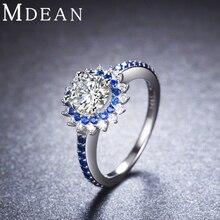 Ronda Auténtica Plata de Ley 925 Joyería Zafiro CZ Anillos de Diamantes para Las Mujeres Bague Tamaño 6 7 8