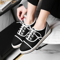 Fashion Brand Top Quality Woman Espadrilles Shoes Designer Vintage Flat Shoes Round Toe Handmade Creepers Oxford