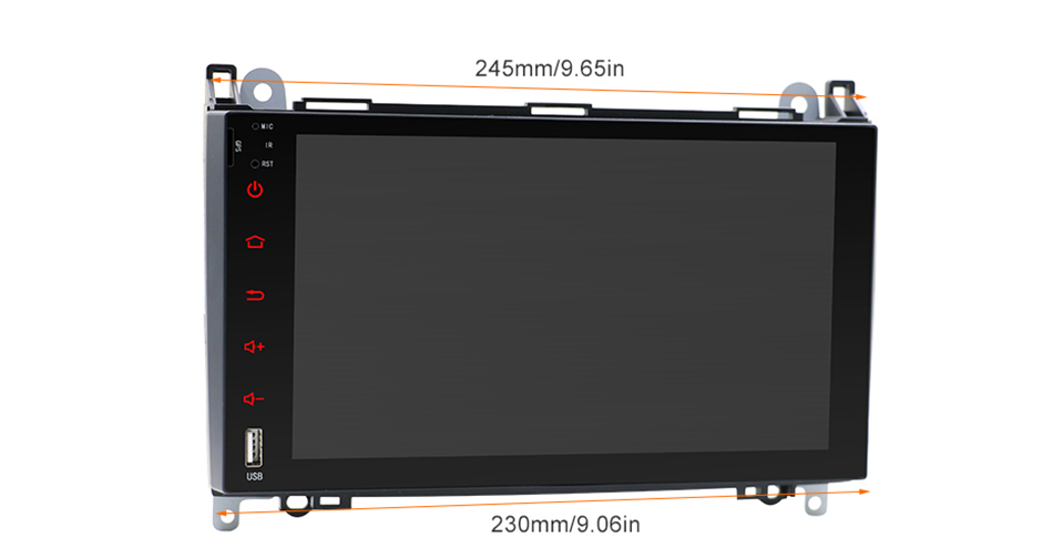 Top Android 9.0 2din Auto radio Car DVD multimedia for Mercedes Benz B200 A B Class W169 W245 Viano Vito W639 Sprinter W906 WIFI GPS 27