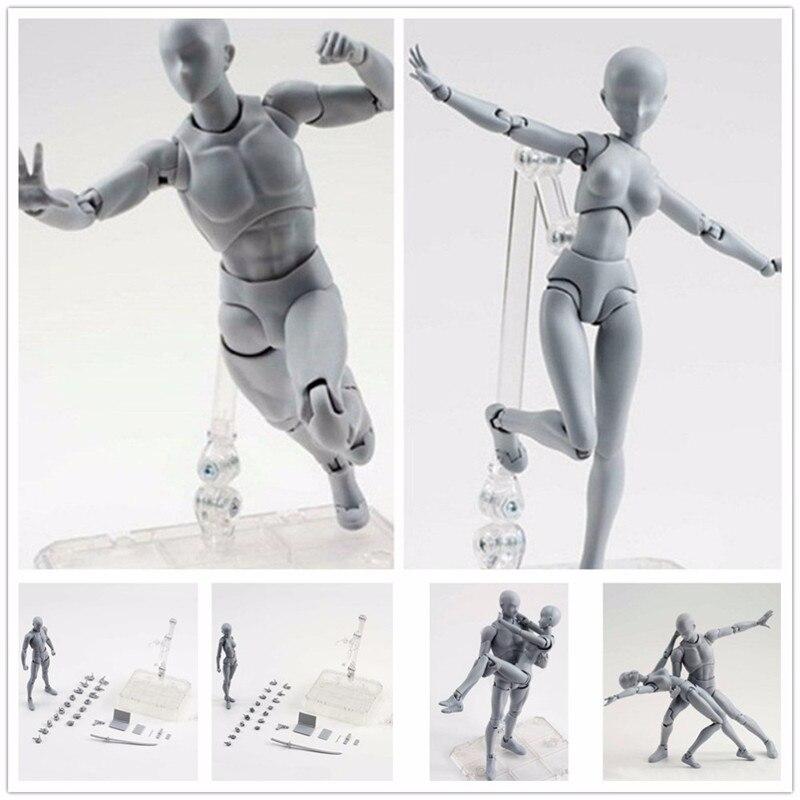 S. H. Figuarts Corpo Chan DX Conjunto Kun Action Figure Toy Feminino Masculino Variável DIY Boneca Figura PVC modelo Anime Fantoches de Nu