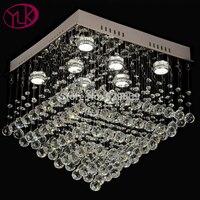 Высокое качество квадратные люстры лампа Современная хрустальная люстра для гостиная LED светодио дный люстры де cristal потолочная