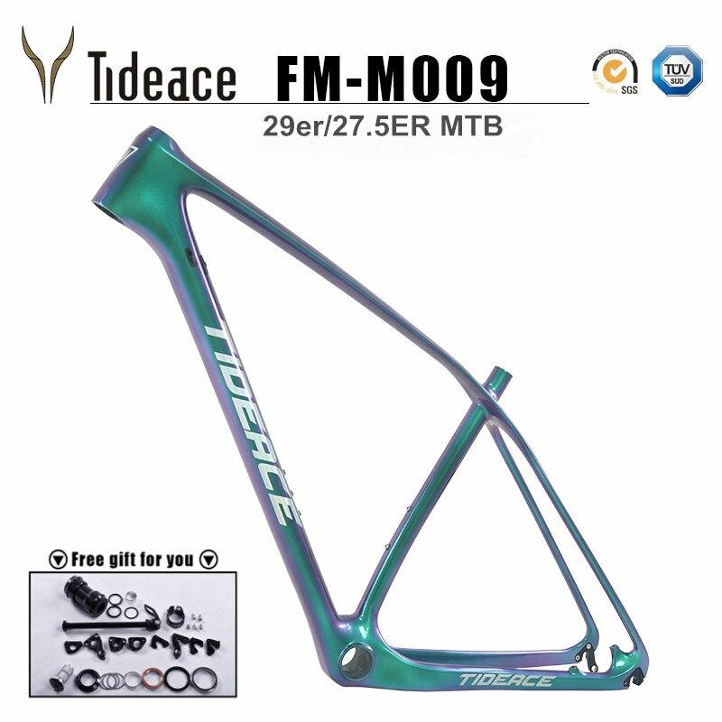 Tideace UD Хамелеон 29er карбоновая рама китайская MTB карбоновая рама 27,5 карбоновая горная велосипедная Рама 650B диск карбоновая рама 29
