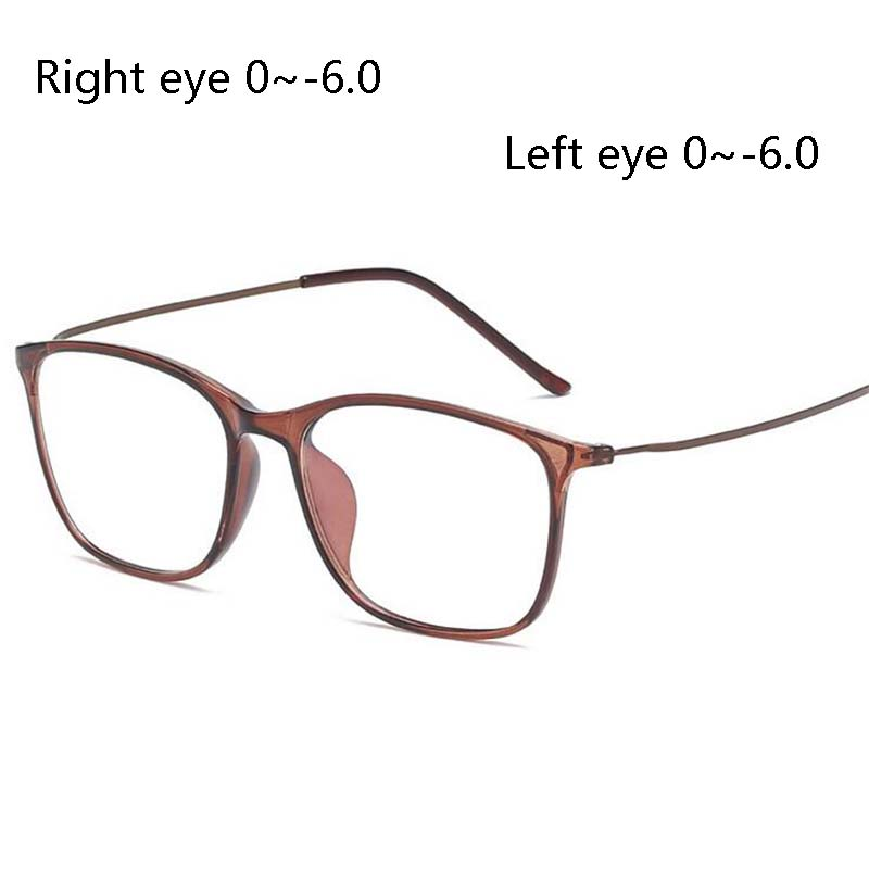 Eye-Glasses Prescription Myopia Retro TR90 Women Anti-Blue-Light Nearsighted Aspheric-Lens