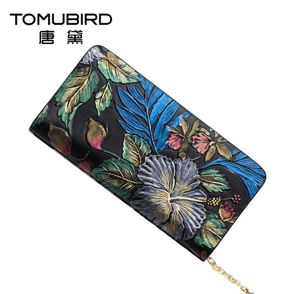 Luxury women wallets genuine leather wallet female purse National wind embossed female money bag ladies clutch bags evening bag