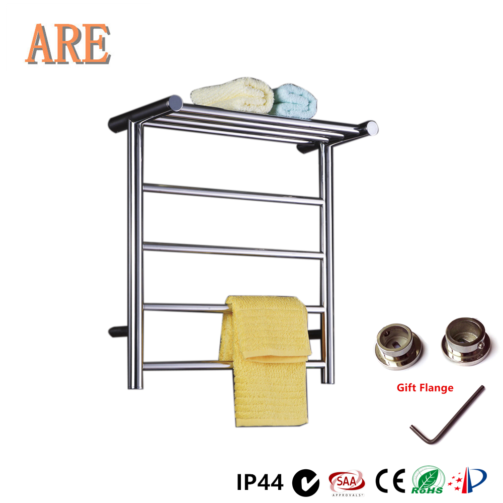 Free Shipping Fashion Stainless Steel Electric Wall Mounted Towel Warmer ,Bathroom Accessories Racks,Heated Towel Rail TW-RD15