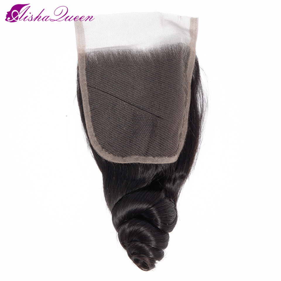 Lace Closure Human-Hair 10-22inch Malaysian Queen Non-Remy Free/middle/three-part Wave