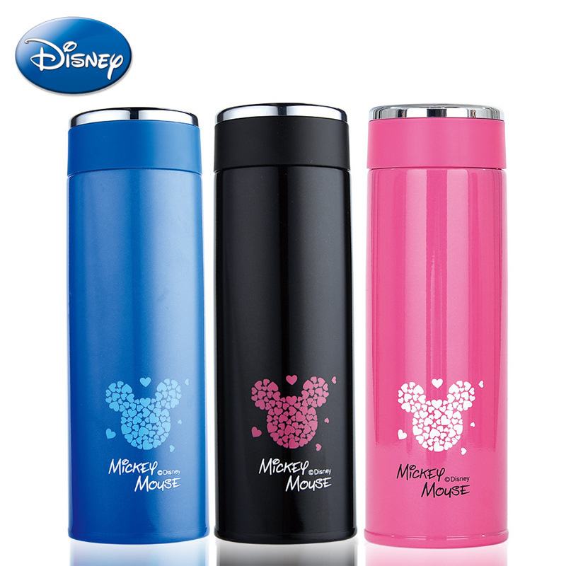 Disney 2018 New Cartoon Animation Cup Baby Children Learning Vacuum Cup Lightweight Vacuum Stainless Steel Cup Creative Simple