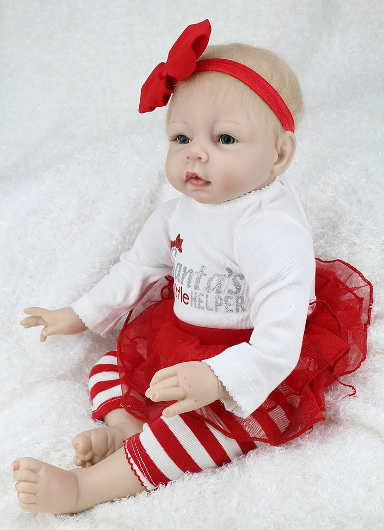 22 Inch 55cm Cute Adorale Silicone Reborn Baby Dolls Collection Soft Lifelike Vinyl Girl Dolls Toys for Children Gifts kawaii pvc flocked dolls furry animals cars and desk decorate cute dolls exquisite collection flocking toys gifts for new year
