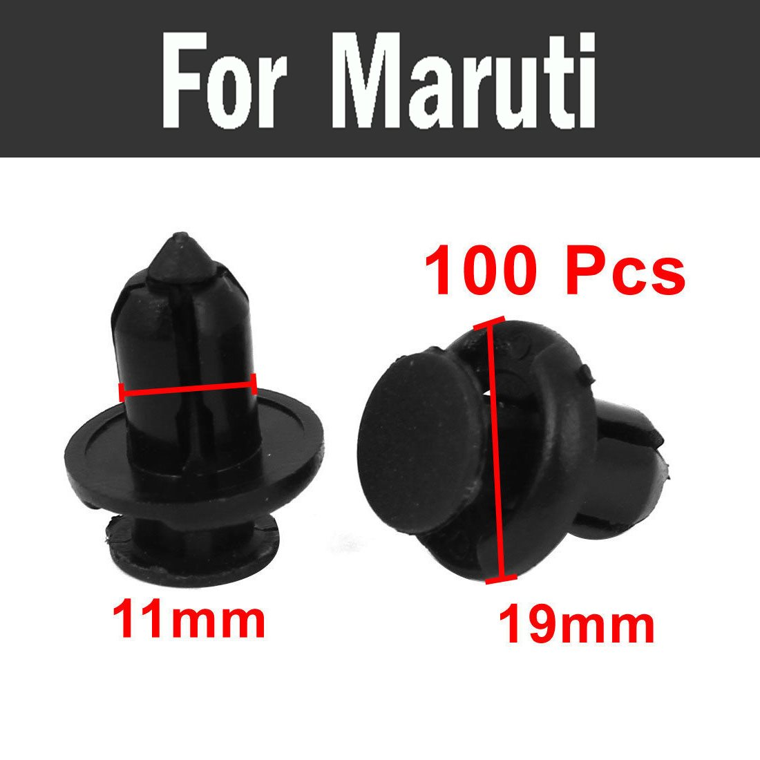 2018 100pcs Car Styling Bumper Panels Fascias Lining Trim Rivet Fastener Clips For Maruti 800 Alto Baleno Esteem Gypsy Zen