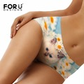 FORUDESIGNS 3D Cute Cat Animals Womens Underwear Dog Panties Ladies Fashion Women's Briefs Wholesale New High Quality Panties