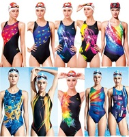 One Piece Women Swimsuit Professional Swimwear Sexy Lady Bathing Suit Sports Racing Competition Tight Bodybuilding Swimming