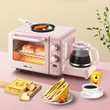 Многофункциональная машина для завтрака, Мини Бытовая электрическая печь, печь для выпечки торта, сковорода, теплый горшок для питья, тостер