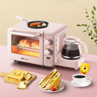 Multifunction Breakfast Machine Mini Household Electric Oven Cake Baking Fry Pan Warm Drinking Pot Toaster