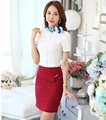 New Novelty Ladies Formal OL Styles Skirt Suits With Tops And Skirt Slim Fashion Professional Business Female Summer Outfits Set