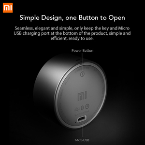 Image 3 - Original Xiaomi Bluetooth Portable Speaker with Mic Headset Speaker Metal Steel Stereo