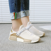 2018 Spring/autumn Womens Shoes Spring New Take Breathable Single Fly Knit Wool Thick Sneaker Platform 5