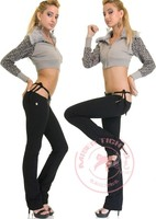 Sexy Low Rise waist Flare Pants Hot Thong in One Piece Trousers Women Outfit Clothing Club Wear Bell Bottomed Pants