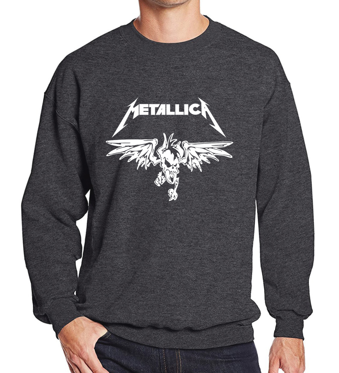 Sweatshirt 2018 spring winter Heavy Metal Rock Band pattern hoodies men fashion cool men ...