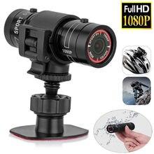Топ предложения мини видеокамера F9 HD 1080P велосипед мотоциклетный шлем Спортивная мини камера видео регистратор DV видеокамера