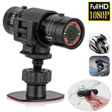 En İyi fırsatlar Mini kamera F9 HD 1080P bisiklet motosiklet kask spor MINI kamera Video kaydedici DV kamera
