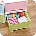 UN CAJÓN de caja de caja de almacenamiento cajón armario superpuestas, mesa de noche cajón acabado caja de ropa