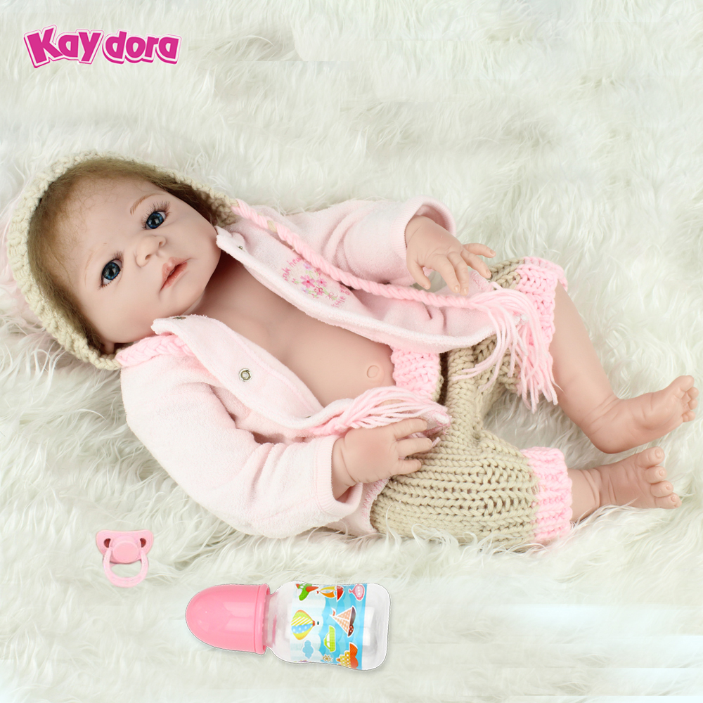 22 inch 55cm Full Silicone Reborn Baby Dolls Alive Lifelike Real Dolls Realistic Kids Reborn Babies Toys Birthday Gift for Kids ноутбук acer aspire a515 41g t189 nx gpyer 011 amd a10 9620p 2 5 ghz 8192mb 1000gb no odd amd radeon rx 540 2048mb wi fi bluetooth cam 15 6 1920x1080 windows 10 64 bit