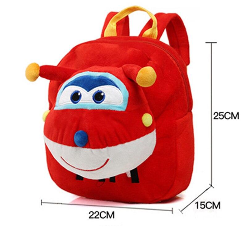 Fondlecare-Kids-Cartoon-School-Bag-3D-Super-Wings-Jett-Plush-Backpack-For-Kindergarten-Girl-Boys-Schoolbag-Childrens-Gift-LF795-2
