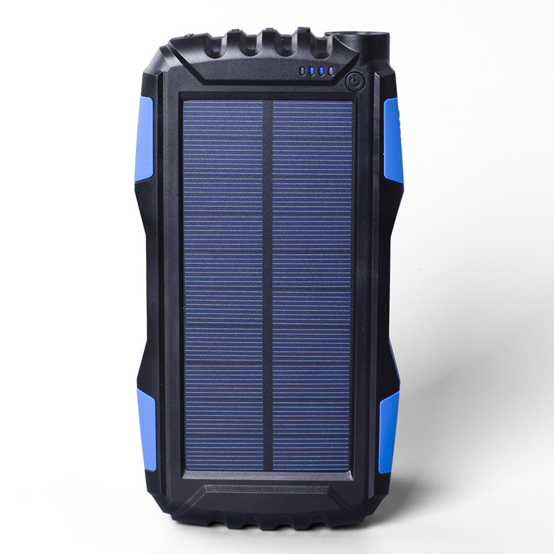 1.8 W Outdoor Solar Charger 25000 mAh Portable Power Bank LED Flashlight Polymer Lithium-ion Battery MP4 mobile phone charging portable 5600mah mobile power source bank w 1 led flashlight for iphone htc samsung white page 3