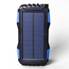 1.8 W Ao Ar Livre Carregador Solar 25000 mAh Banco De Potência Portátil LEVOU Lanterna Bateria de Lítio-ion Polímero MP4 telefone móvel carregamento