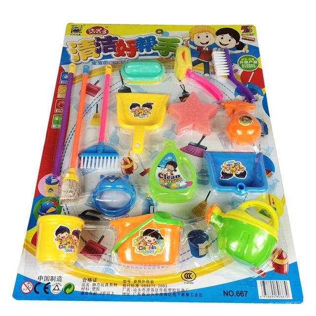 Sammeln & Seltenes Hognsign Kinder Clean Tool Spielzeug Kunststoff Simulierte Werkzeuge Reinigung Utensilien Spielen Pädagogische Kinder Spielzeug Lehrmittel