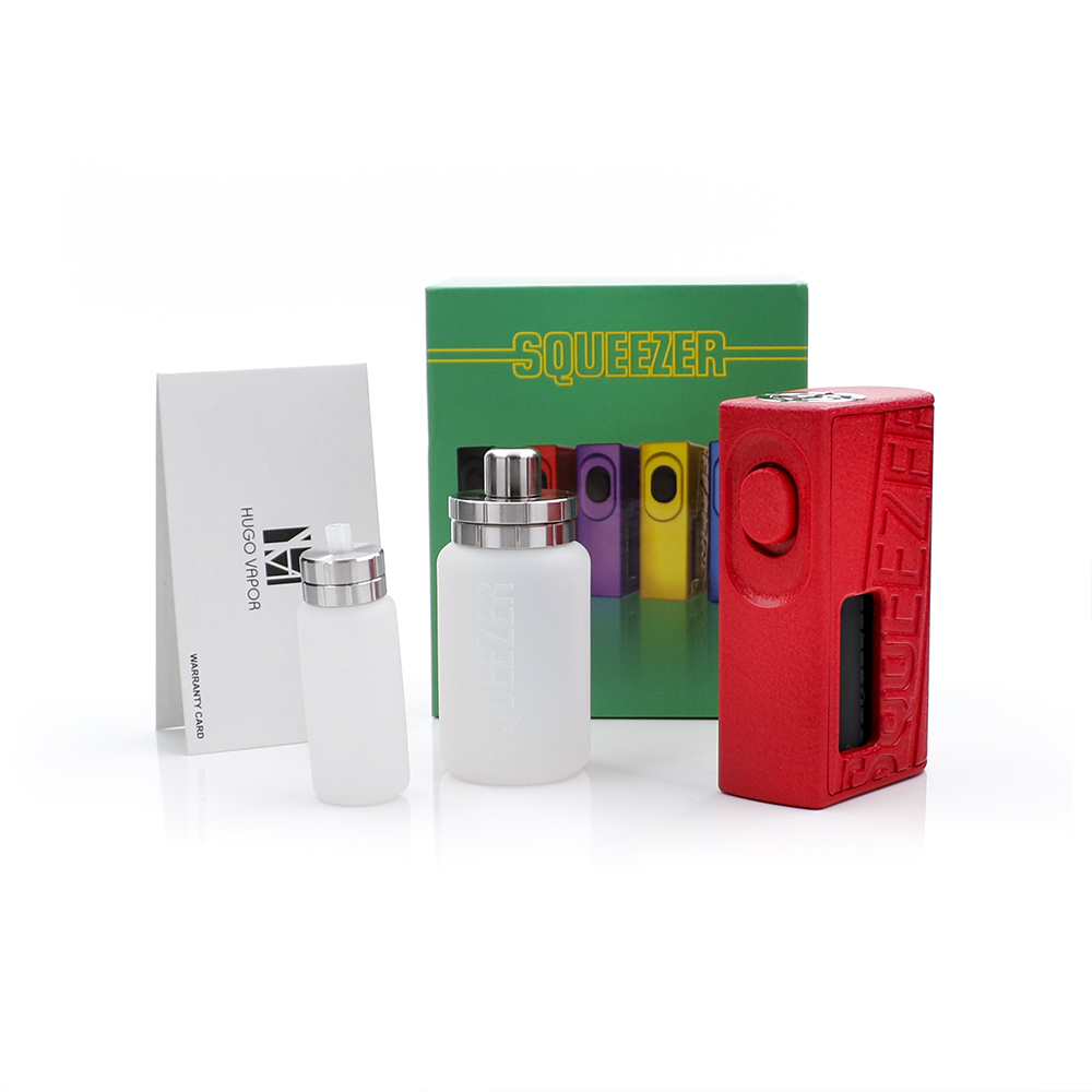 D'origine HugoVapor Squeezer BF Mod cigarette électronique boîte hugo 18650/20700 Batterie Intégré 10 ml de Qualité Alimentaire Bouteille