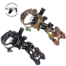 1pc Archery  7pin Bow Sight Compound Camouflage Black Sights Aluminum Adjustable Micro Hunting Accessories
