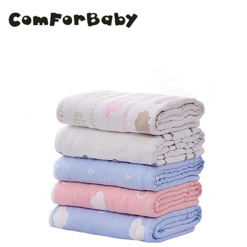 Детское одеяло newborn120 * 120 см Стёганое одеяло малыш органический хлопок Полотенца животных мягкие постельное белье ...