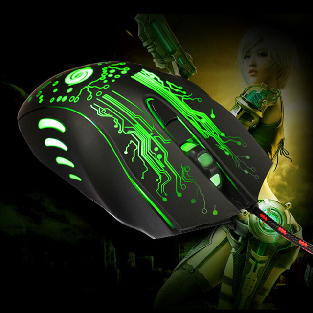 2017 Adjustable 5500 DPI LED Backlight Optical 6D USB Wired Gaming Game Mouse Pro Gamer Computer Mice For PC High Quality