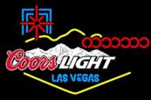 Coors luz las vegas vidro neon luz sinal barra de cerveja