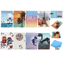 Ultra Thin Slim Magnet Smart Sleep Print Stand PU Leather Skin Coque Funda Cover Case For Apple iPad 9.7 2017 Generation Tablet