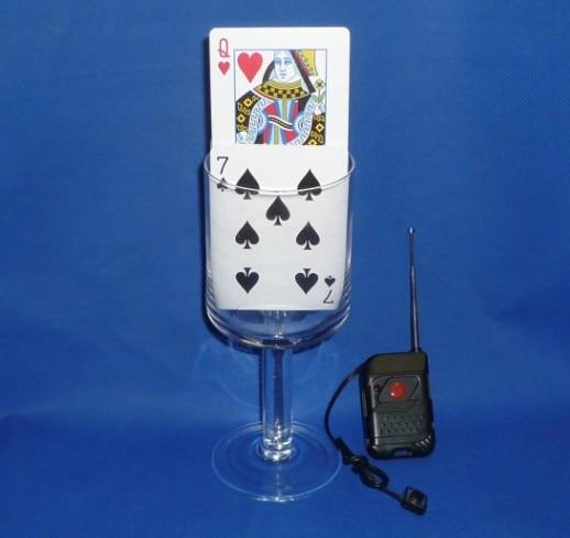 Montée de carte de contrôle à distance-tour de magie, accessoires de magie de scène, Illusions, magie du mentalisme, Gimmick, carte de magicien choisie en hausse, amusant