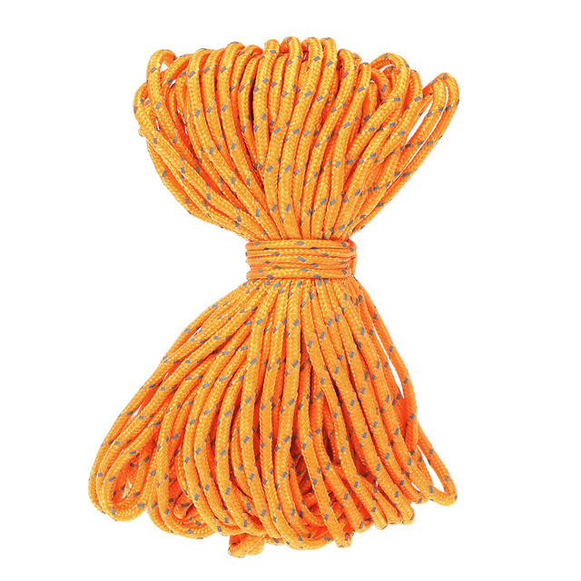 20m Reflective Rope Paracord Cord Beach Outdoor Tents Gear Lanyard 1 Inner Strand Core for Camping Awning Tents Reflective Rope