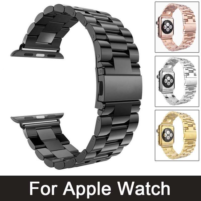 все цены на Stainless Steel Watch Band For iwatch Apple Watch Band Strap Link Bracelet With Adapter 42MM 38MM series3/2/1 watch band онлайн