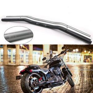 """Moto 7//8/"""" 22mm Cromo Guidão Drag Bar Preto Para Harley 80cm"""