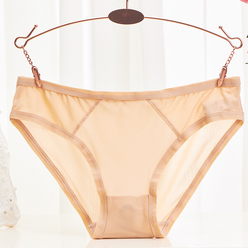 Buy Ice Silk Women Briefs Low Waist Breathable Panties High Elasticity Transparent Sexy Seamless Underwear Thin Calcinha Lingerie